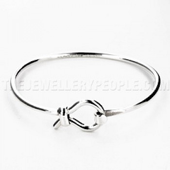 Loop Catch Silver Bangle