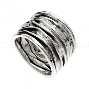 Melted Layers Silver Ring