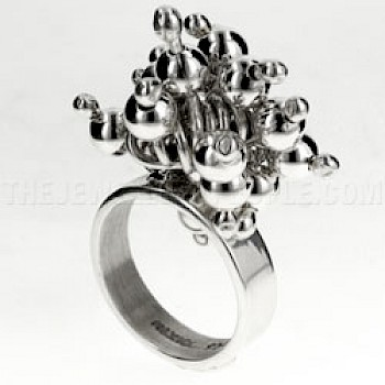 Multi Ball Silver Ring