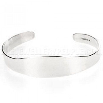 Open Silver Bangle - 15mm Wide