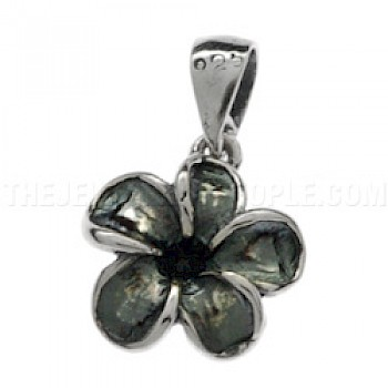 Oxidised Flower Silver Charm - Small