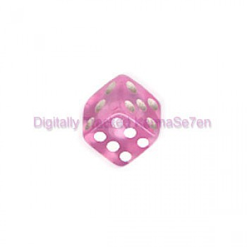 Pink Acrylic UV Threaded Dice