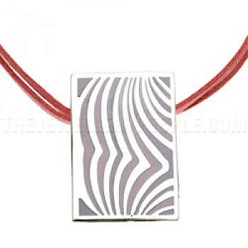 Pink Waves Silver Pendant