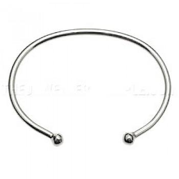 Plain Silver Bangle - 2.5mm Solid