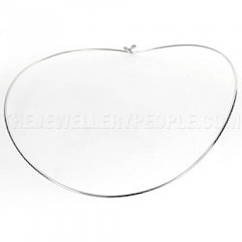 Plain Silver Circlet with Hook - 1mm