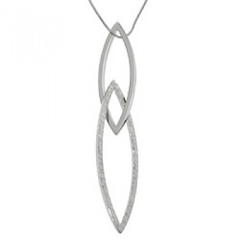 Pointed Half Hammered Silver Pendant