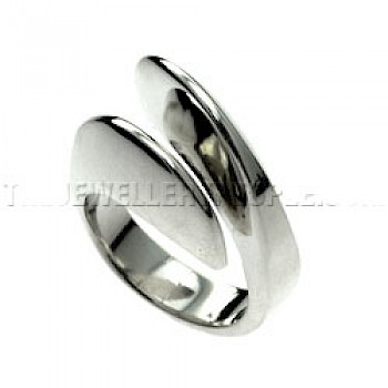 Polished Oval Wrap Silver Ring