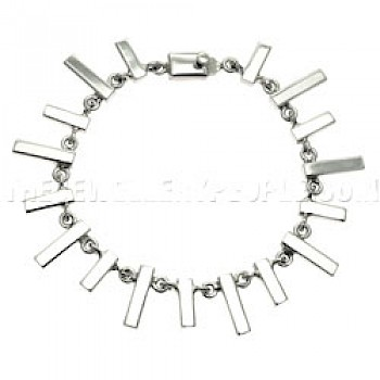 Polished Solid Rectangle Link Bracelet