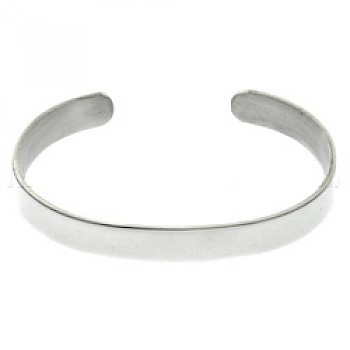 Polished Silver Bangle - Extra Large - 9mm Wide