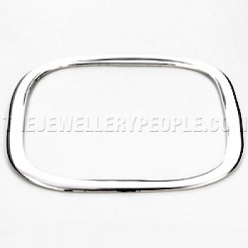 Polished Square Silver Bangle - 5mm Solid