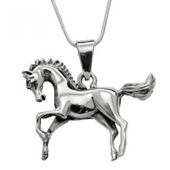 Prancing Pony Silver Pendant - 35mm