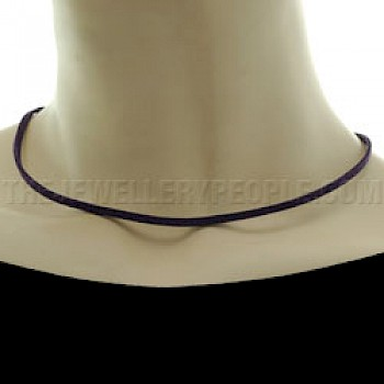 Purple Suede Necklace - Single Strand