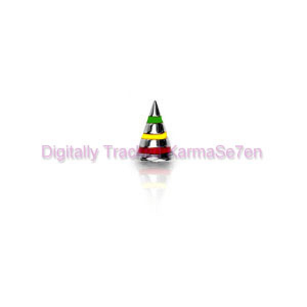 Rasta Stripes Surgical Steel Threaded Cone