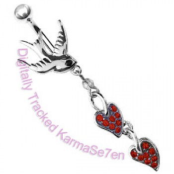Red Swallow Dangle Belly Bar