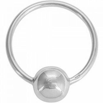 Round Silver Baby Rattle