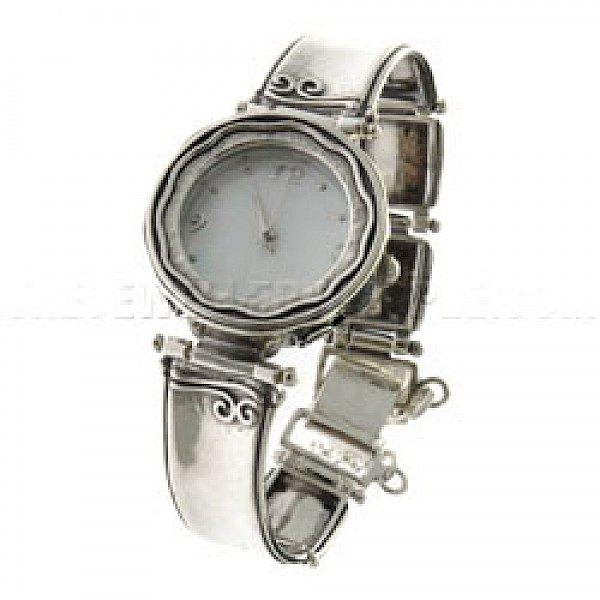 Swirls Silver Watch