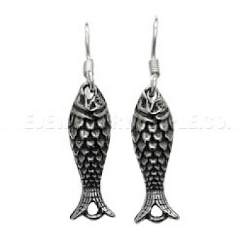 Sea Fish Silver Earrings