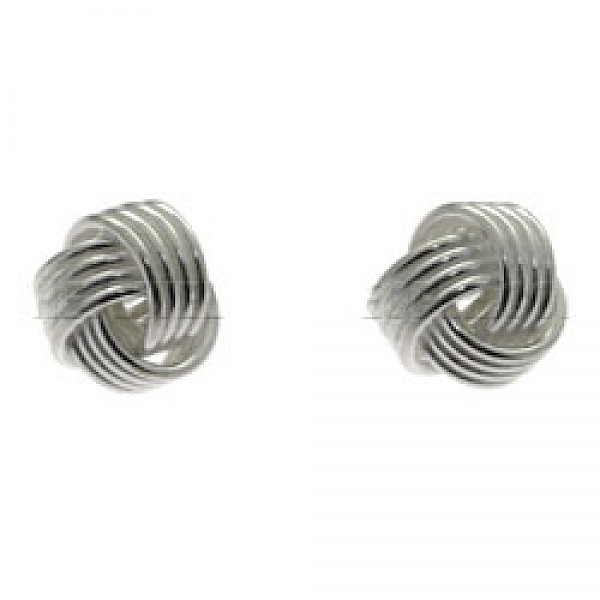 Plain Woolmark Silver Stud Earrings
