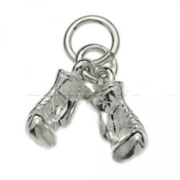 Boxing Gloves Silver Charm