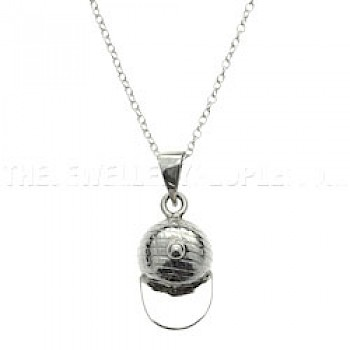 Silver Cap Pendant - 32mm long