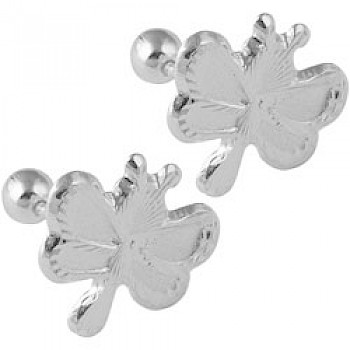 Silver Butterfly Baby Stud Earrings