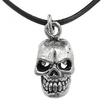 Silver Fixed Jaw Skull Pendant