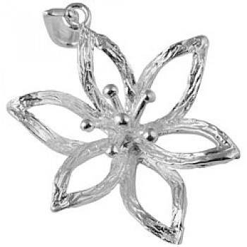 Silver Flower Outline Pendant
