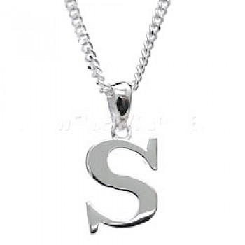 Silver Initial Pendant - S