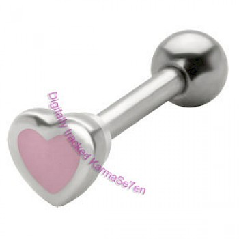 Silver Mother of Pearl Heart Upper Ear Stud