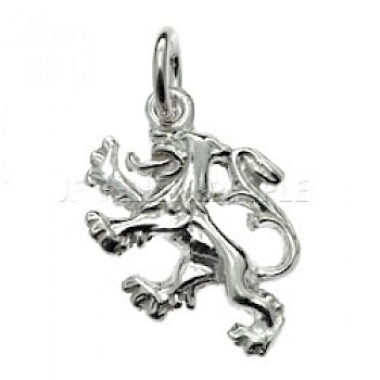 Scottish Lion Rampant Silver Charm