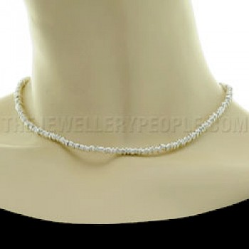 "Silver 4mm Sweetie Necklace - 18"" long"