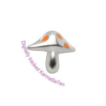 Silver Toad Stool Nose Stud