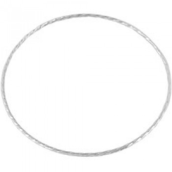 Silver Twist Thin Bangle - 1.5mm Solid