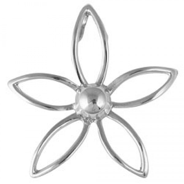 Silver Wire Flower Pendant