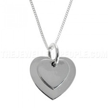 Double-Hearts Silver Pendant
