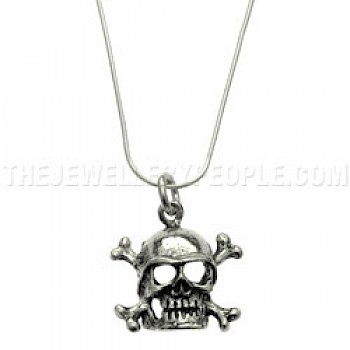 Skull & Cross Bone Silver Pendant