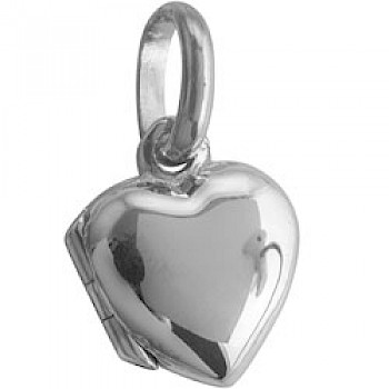 Small Polished Silver Heart Locket