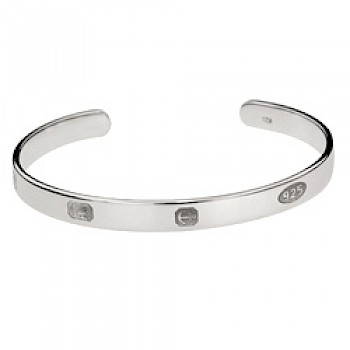 Special Assay Marks Bangle - 7mm Wide