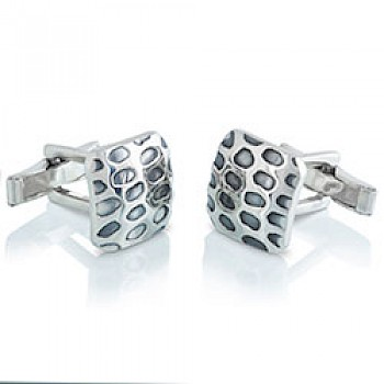 Spotted Silver Cufflinks