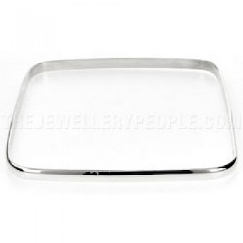 Square Silver Bangle - 3mm Solid
