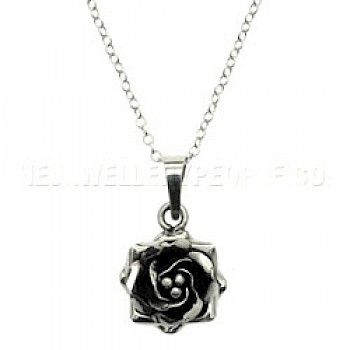 Supreme Rose Silver Pendant - Small