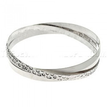 Textured Entwined Bangle