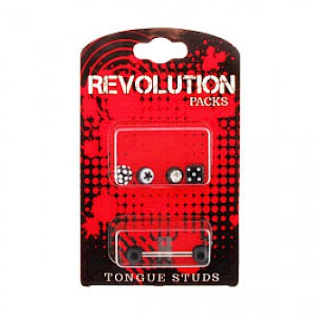 Tongue Stud Revolution Pack - Black Accessories