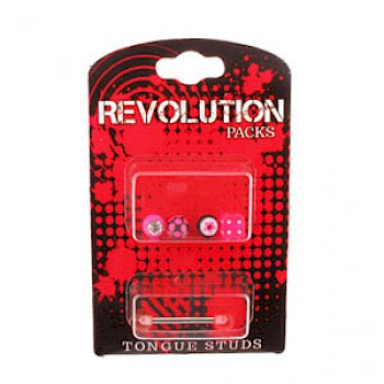 Tongue Stud Revolution Pack - Pink Accessories