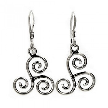 Triskele Silver Earrings