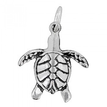 Turtle Silver Charm