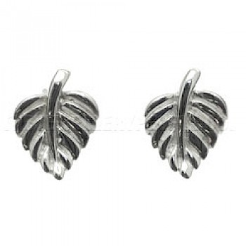 Vine Leaf Silver Earrings