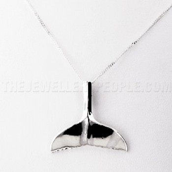 Whale Tail Silver Pendant