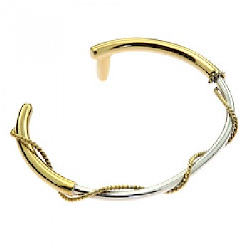 Whip 18ct Gold Plated & Silver Bangle