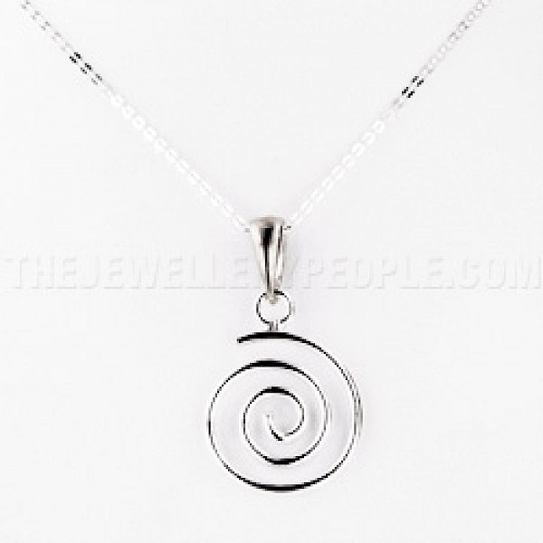 Whirl Silver Pendant